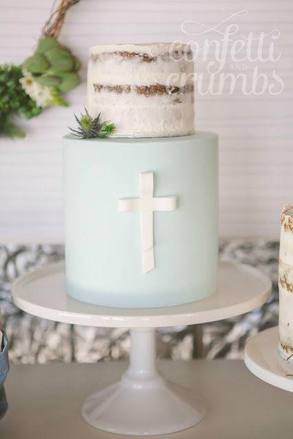 Torta de bautizo de niño