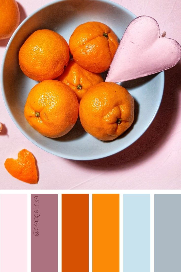 Tangerine Heart By Orangerinka Tangerine Color Scheme Warm Color Schemes Color Combinations Home