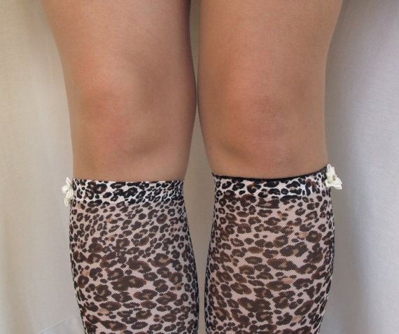 Lace Boot Cuff Socks, Animal Print lace with Ivory flower - boot topper - wellies boot cuff , lace leg warmers