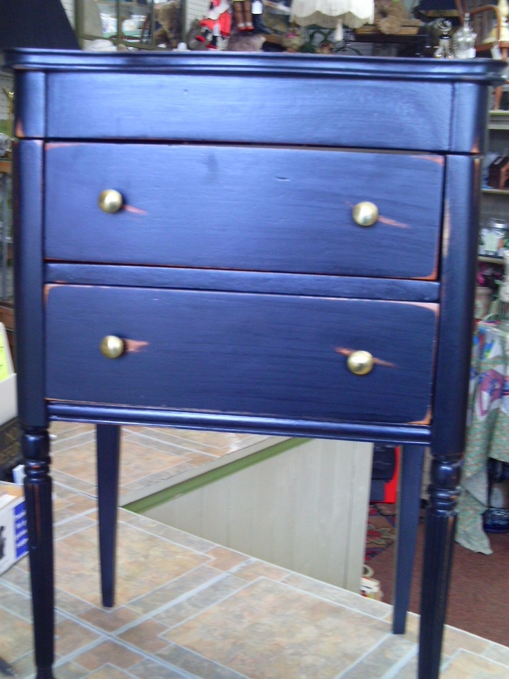 "grr8 side table - top lifts to hold your sewing threads plus more 2 drawers  H 26"" W 16 1/2"" D 12""  $ 125"