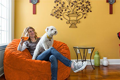 Bean Bag Chair 5Foot Xpert Gamer Oversized Bean Bag Chair in Twill Orange Crush >>> Want to know more, click on the image.