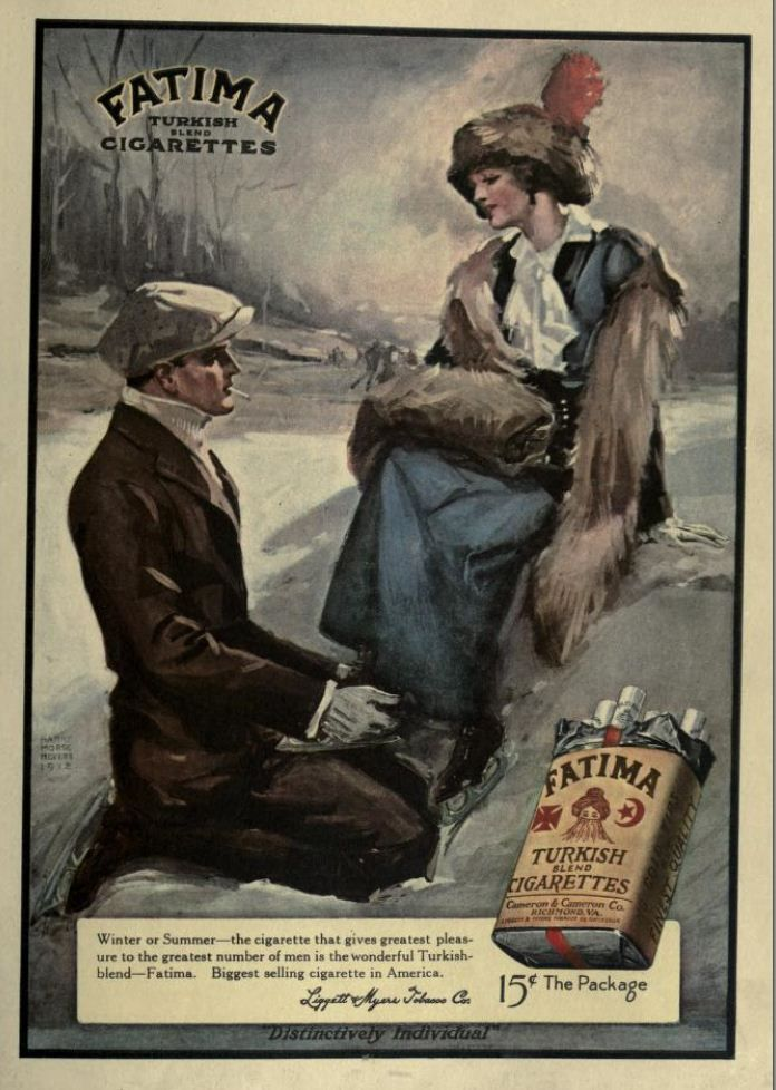 1913 Vintage Advert - Fatima Turkish Cigarettes