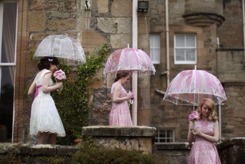 Matching Umbrella Colour with Bridesmaid Dress