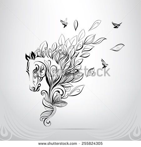 Horse Tattoo Stock Photos, Images, & Pictures   Shutterstock
