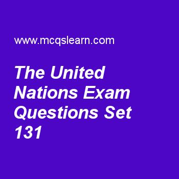 Practice test on the united nations, general knowledge quiz 131 online. Practice GK exam's questions and answers to learn the united nations test with answers. Practice online quiz to test knowledge on the united nations, johannes hans danniel jensen, albert einstein, layers of atmosphere, jupiter facts worksheets. Free the united nations test has multiple choice questions as organization which is one of six principal bodies is, answers key with choices as secretariat, trusteeship council...