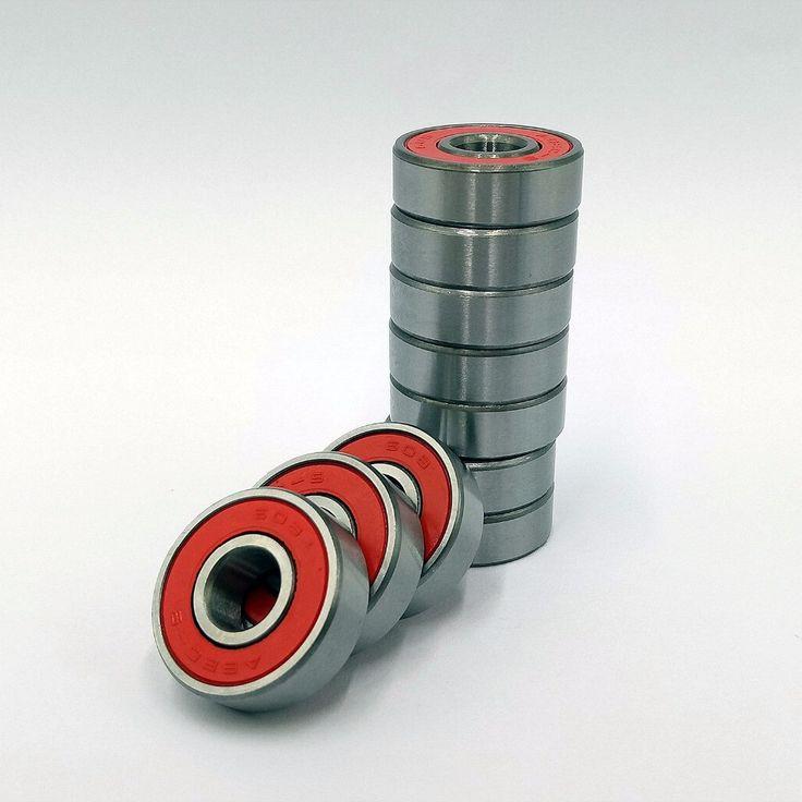 10 ABEC 9 High Performance Stainless Steel Bearings pcs / set Red Roller Skate Skateboard Scooter Wheel Wholesale