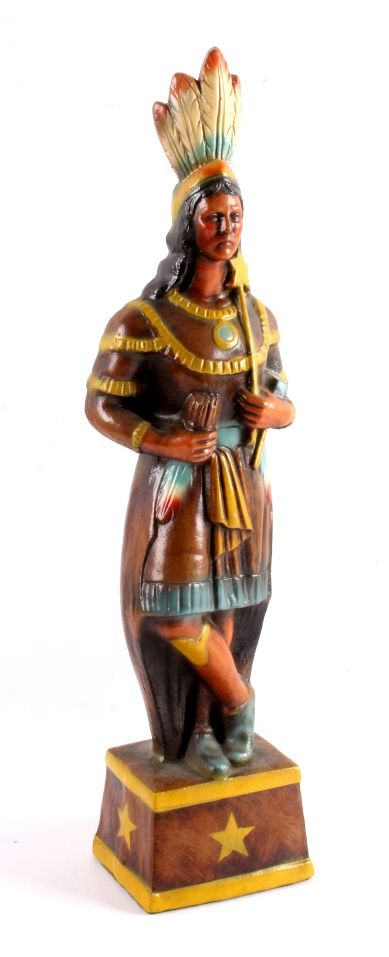 Cigar Store Indian Counter Trade Display 1920's