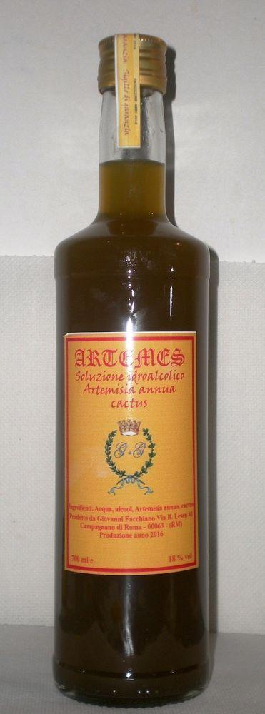 SOLUZIONE IDRO ALCOLICA  ARTEMISIA ANNUA E CARCIOFO DA 700 ml