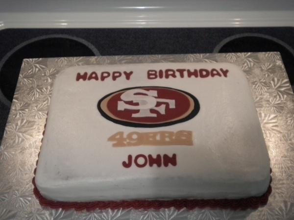 San Francisco 49ers Birthday cake