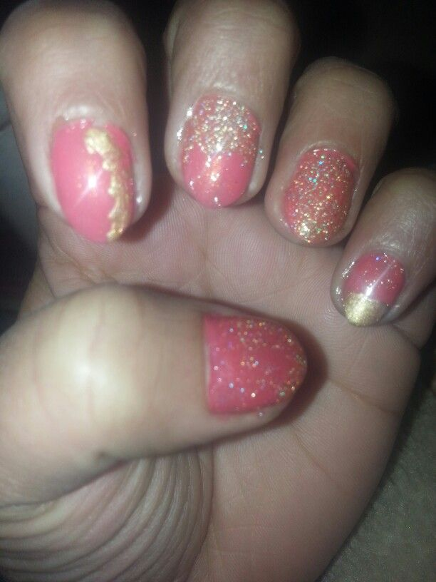 Valentines day super easy nails.