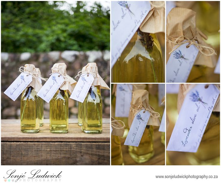 Lavender infused olive oil used as wedding favors in our Greek inspired wedding shoot.