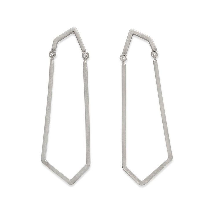 Silver, handmade earrings by Kasia Wójcik