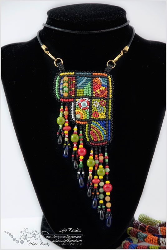 "Кулон ""Африканские мотивы"" | biser.info - всё о бисере и бисерном творчестве"
