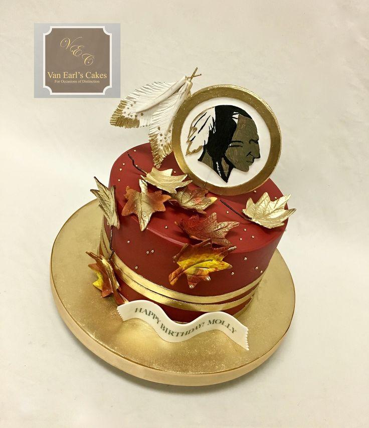 Washington Redskin Football Theme Birthday Cake
