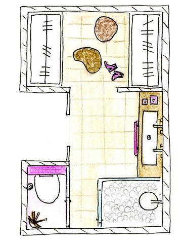 Un baño con vestidor, ducha, lavabo e inodoro