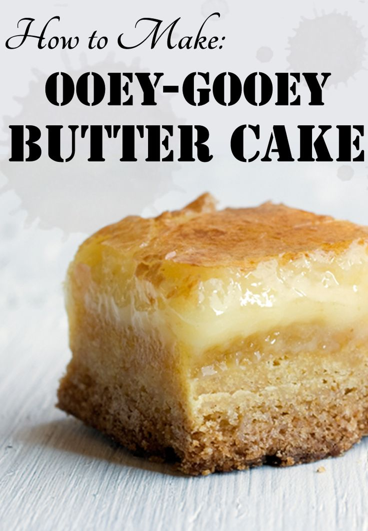 It's a favorite for indulging, but it's also an easy go-to dessert recipe that's made with pantry staples. Learn how to make Gooey Butter Cake now!