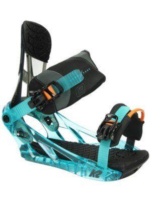 K2 Men's Hurrithane: Snowboard Bindings (Tide, Large)