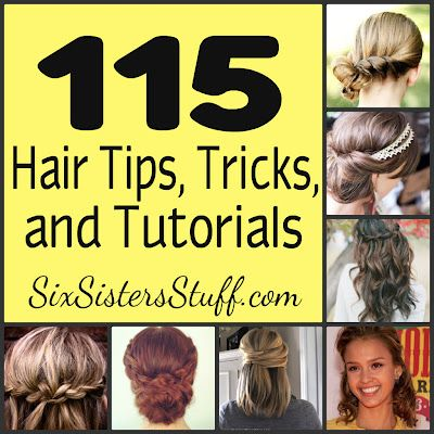 115 Hair Tips, Tricks, and Tutorials- never wonder how to style your hair again! Amazing step-by-step instructions of some great ways to do your hair. SixSistersStuff.com #hair #tutorialsHair Ideas, Hair Tutorials, Hair Design, 115 Hair, Hair Style, Tips And Tricks, Six Sisters Stuff, Hair Tips, Hair Tricks