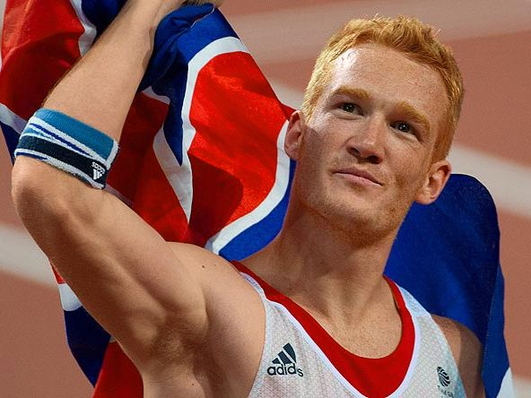 Greg Rutherford. He can jump further than anyone else in the world, regardless of their hair colour.