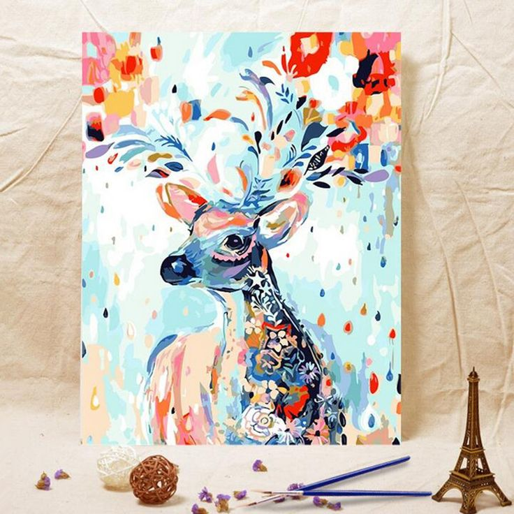 HOME BEAUTY digital oil paint painting by numbers diy picture drawing on canvas…