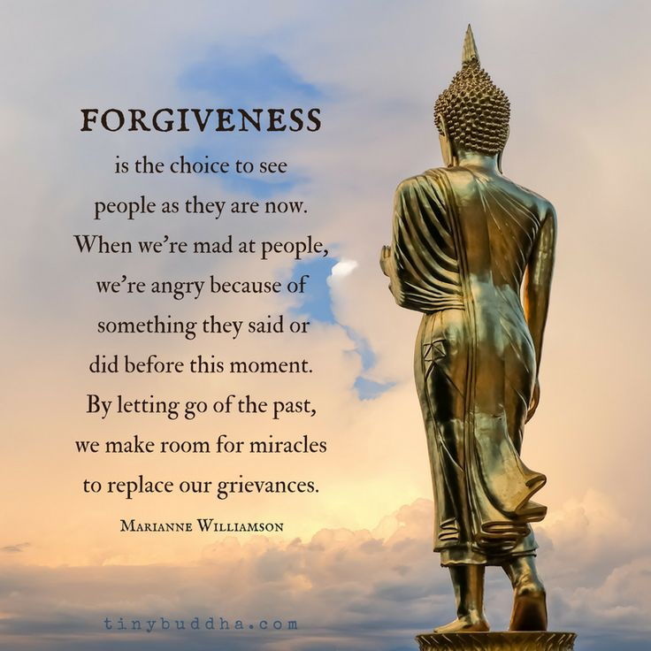 Forgiveness is the choice to see people as they are now. When we're mad at people we're angry because of something they said or did before this moment. By letting go of the past, we make room for miracles to replace our grievances. #Foregiveness #MindfulInspiration