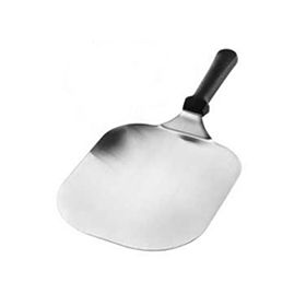 This super wide pizza server is awesome for square-sliced pizzas, calzones, and other square-shaped goods.