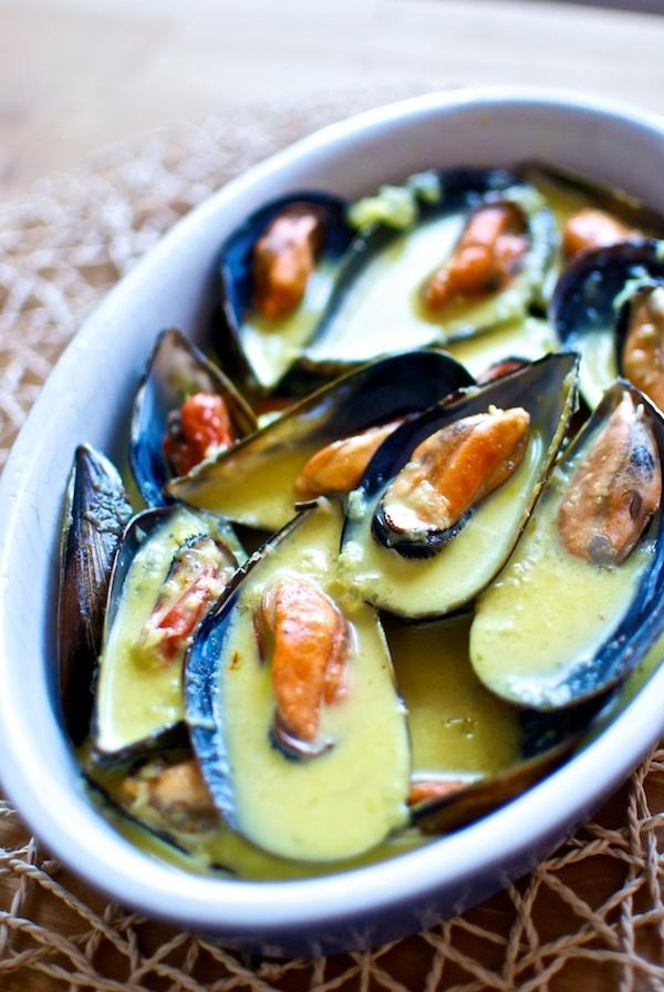 #Entuboca mejillones al azafrán (saffron mussels)