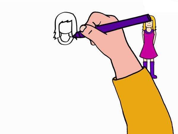 1000 id es sur le th me comment dessiner une fille sur for Apprendre a dessiner une maison
