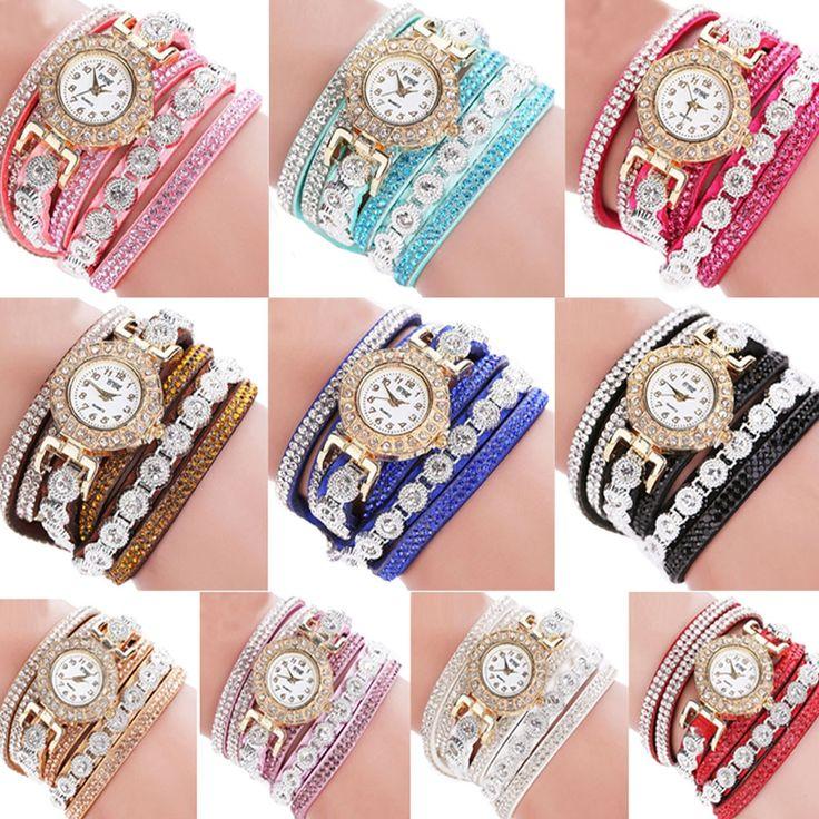 CCQ 2018 Uhr Frauen Armband Damen Uhr Mit Strass Uhr Frauen Vintage Mode Kleid Armbanduhr Rel…