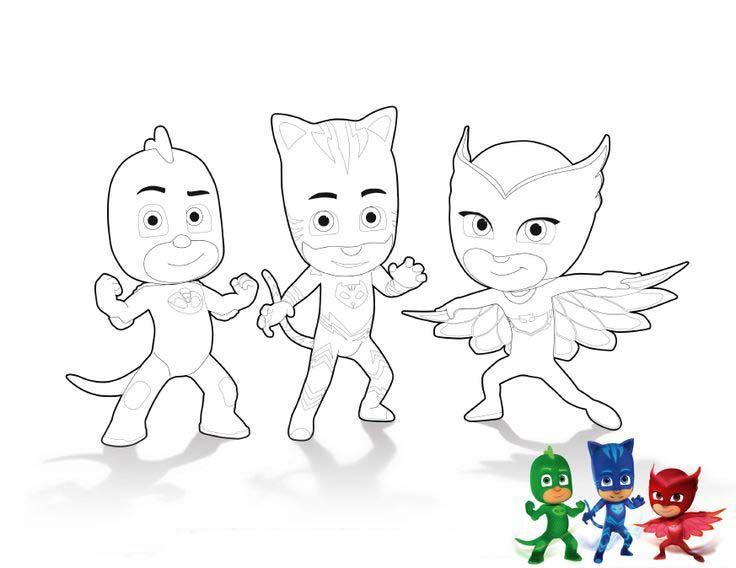 Dibujos para colorear pintar e imprimir | HBD #3- PJ MASKS HEROES ...
