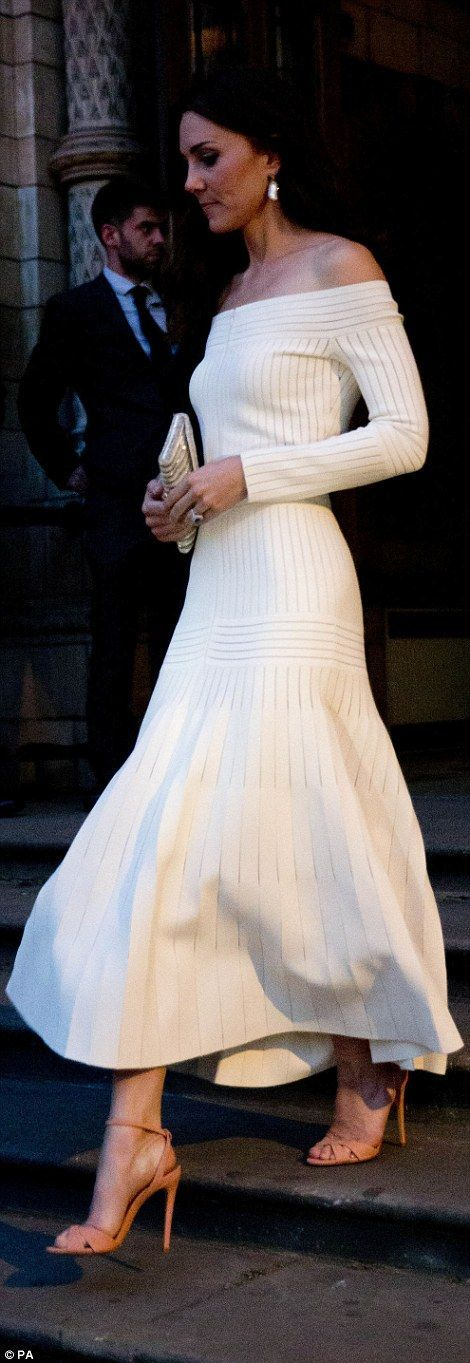 awesome Duchess of Cambridge wears a daring off-the-shoulder gown for awards