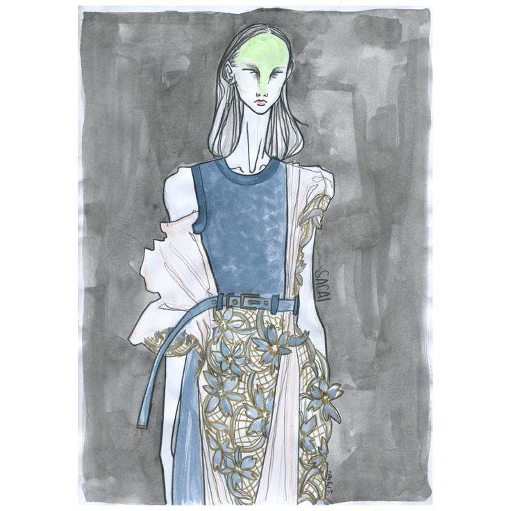 «SACAI SS2016 @sacaiofficial @drawadot #sacai #sacaiofficial #chitoseabe #fashion #fashionshow #fashionweek #fashiondesign #fashionillustrator…»