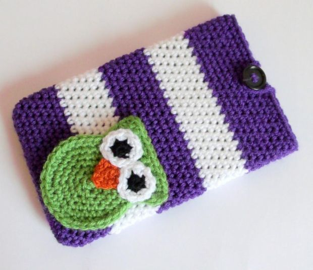 how to make crochet laptop cover