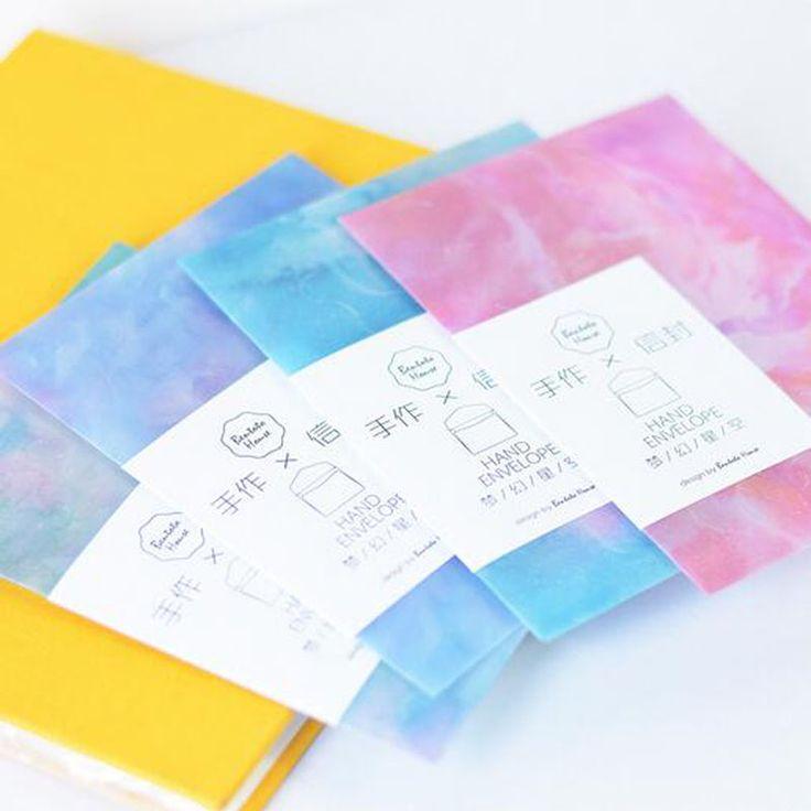3 Pcs Cute Kawaii Dream Starry Sky Storage Envelope Sulfuric Acid Paper Envelope For Postcard Kids Gift School Materials #Affiliate