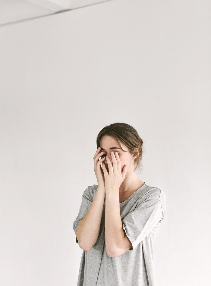 FOLD FRONT TUNIC £69. TOAST JERSEY / Photograph by Rich Stapleton at @Cereal Magazine