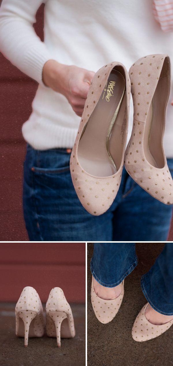Gold Polka Dot Heels | this heart of mine