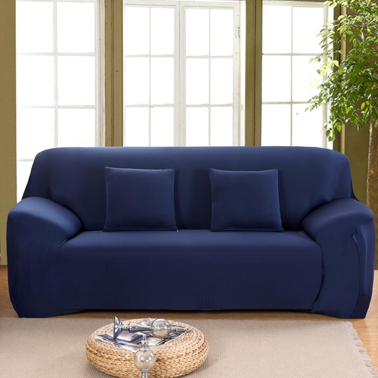 1pcs Fashion Sofa Cover Slipcover Stretchable Pure Color Polyester Fiber Sofa Cushion Washable Home/Office/Hotel Sofa Covers #Affiliate