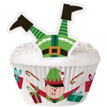 Natal com crianças? Torne ainda mais divertido o Natal delas com estas 24 Formas cupcakes Elfos Natal Wilton