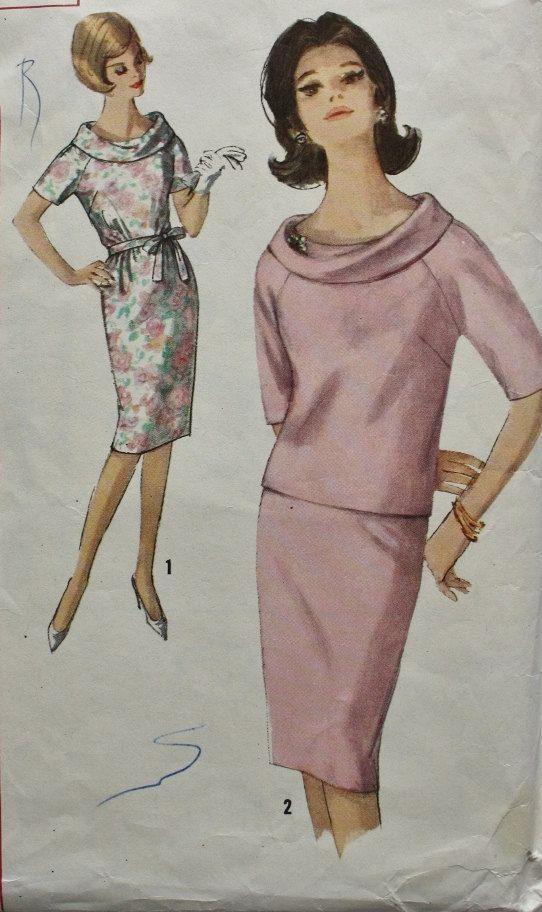 Vintage Sewing Pattern 1960s MAD MEN Dress by BluetreeSewingStudio, $12.00