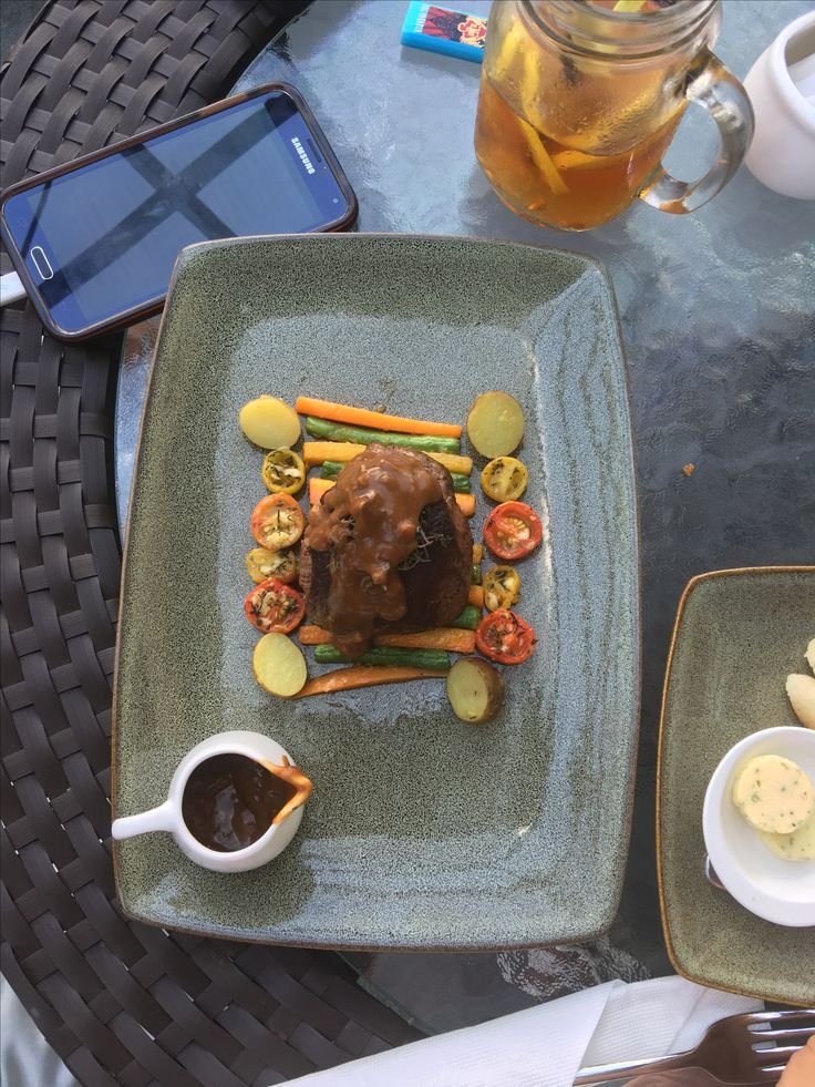 Lunch! Delicious steak.