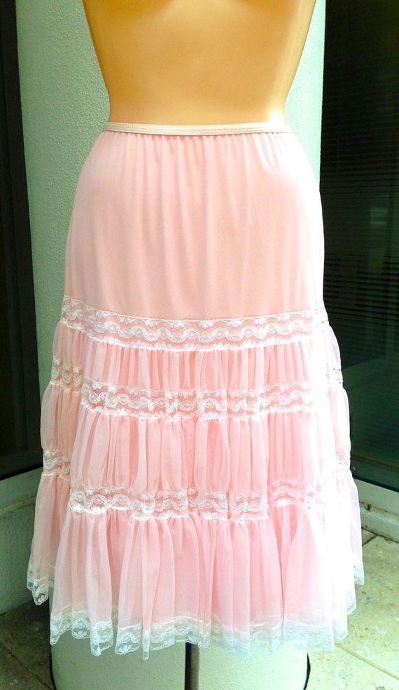 50 S Vintage Petticoat Slip Skirt Vintage Intimates