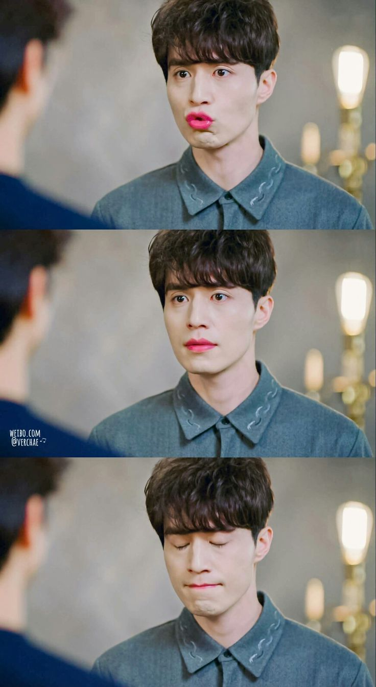 Grim Reaper / Kim Woo Bin /Wang Yeo (Lee Dong Wook) with his red lipss