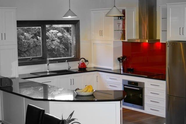 Photo of Compass Kitchens - Mt Compass South Australia, Australia. Two-Pack contemporary shaker, Glass Splashbacks