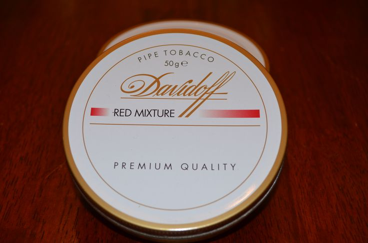 Davidoff - Red Mixture This mixture owes its distinctive aroma to a luxurious blend of Black Cavendish tobaccos and the interesting contrast of Virginian Ribbon Cut. This is an exceptionally smooth blend, which burns evenly.  Tobacco Reviews link http://www.tobaccoreviews.com/blend/3717/davidoff-red-mixture