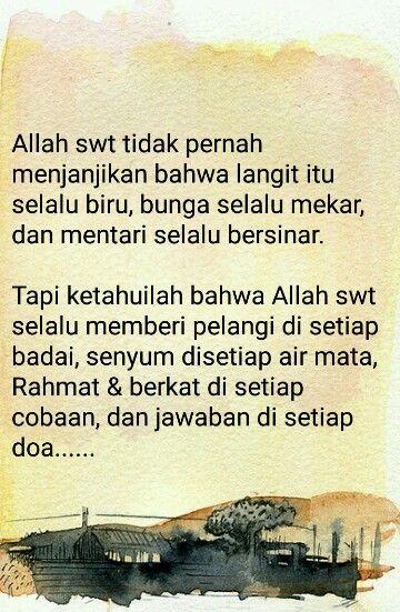 Jangan berputus asa dengan rahmat Allah SWT