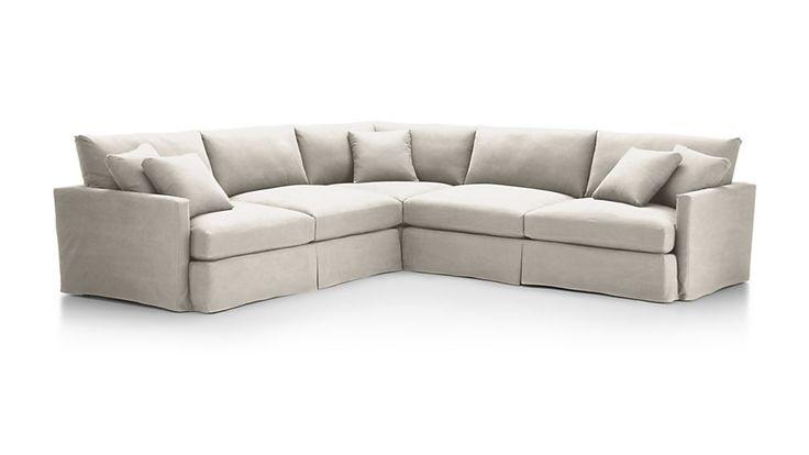 Lounge II Slipcovered 3-Piece Sectional Sofa