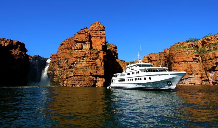 Cruising The Kimberley, TRUE NORTH - Hero shot, King George River, the Kimberley.  #thekimberley #kimberleycruises #northstarcruises #truenorth #boats #boataustralia #ship  www.thekimberleycollection.com.au