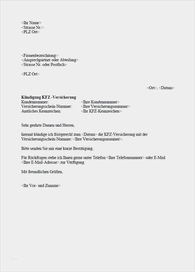 Generali Kfz Versicherung Kundigungsschreiben 15