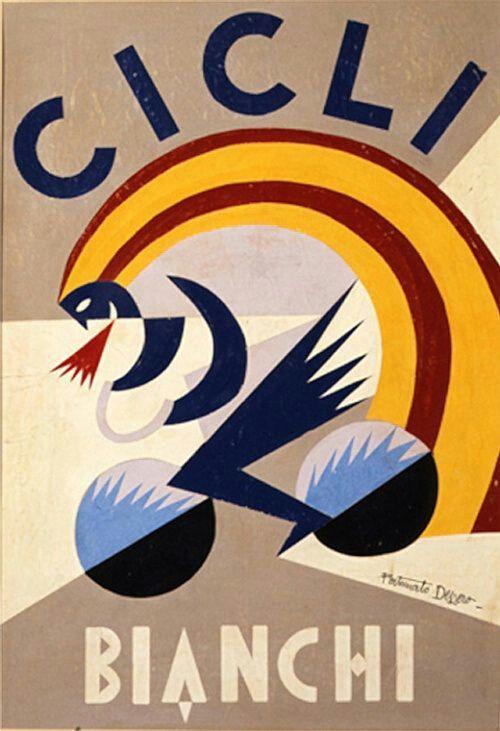 Quite Deco! Fortunato Depero per Cicli Bianchi 1924