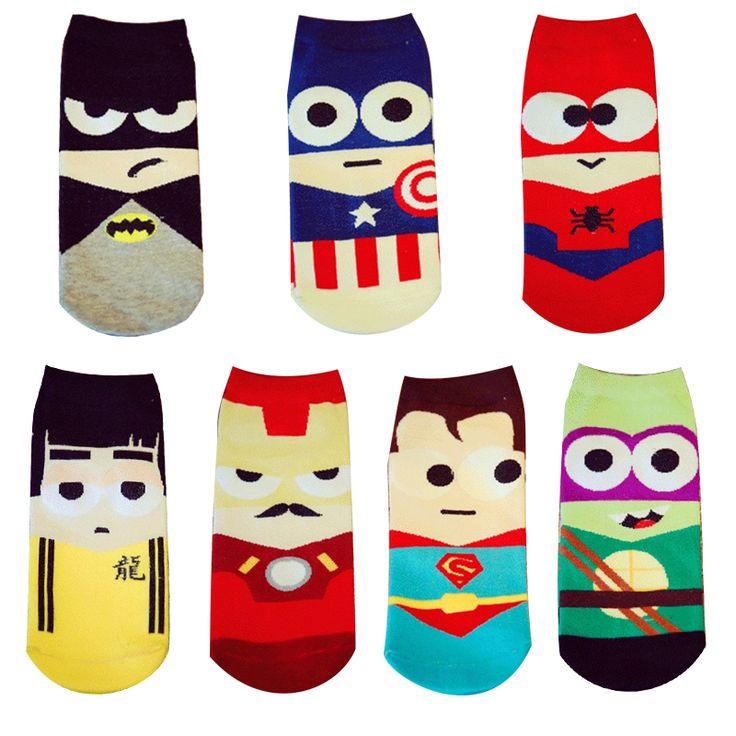 1 Pair 2016 New Summer Cartoon Men&Women Short Socks Marvel Superman Batman Happy Boat Socks Funny Kawaii Colorful Ankle Socks♦️ B E S T Online Marketplace - SaleVenue ♦️👉🏿 http://www.salevenue.co.uk/products/1-pair-2016-new-summer-cartoon-menwomen-short-socks-marvel-superman-batman-happy-boat-socks-funny-kawaii-colorful-ankle-socks/ US $1.55